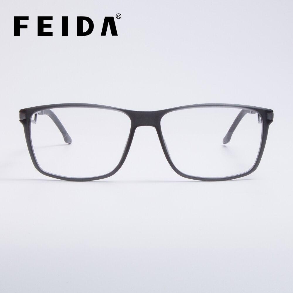 814de4ce33 Vintage Square Titanium Eyeglasses Frames Mens Clear Glasses With  Transparent Lens TR90 Spectacle Frames Optical Glasses Frame -in Eyewear  Frames from ...