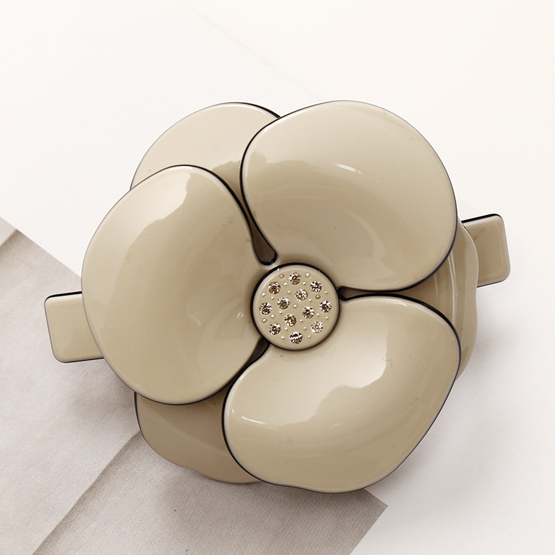 Hot Sale acetate flower hair clips fashion jewelry for women french barrettes cellulose acetate Camellia hair clip Top Folder hot sale korean acrylic hair clips for women 3 colors dot hairpins barrettes for girls 2016 new fashion hair accessories