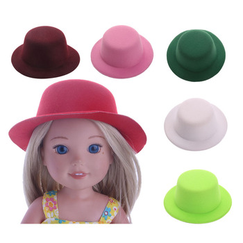Plush Cute Sun Vacation Top Hat Fit 14.5 Inch Wellie Wisher Doll Clothes Accessories(Buy 3 or more, Free Shipping),Birthday Gift