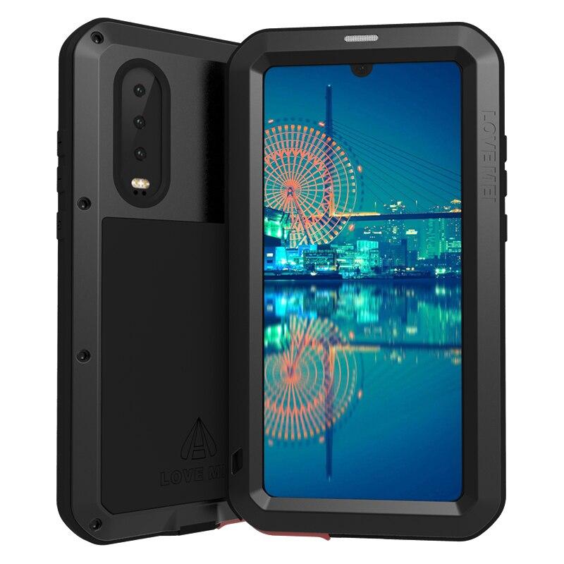 Pour Huawei P30 Pro étui p30pro armure métallique étui pour Huawei P30 Lite antichoc robuste coque intégrale pour Huawei P30 Pro