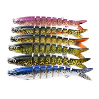 12PC Fishing Lures 13.28cm 19g Artificial Plastic Multi Jointed Lure Hard Bait Fishing Tackle For Carp Trout Pesca Bass