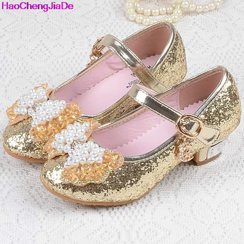 HaoChengJiaDe Kids Shoes Size26-36 Sweet Summer Children Girls Leather Sandals butterfly ...