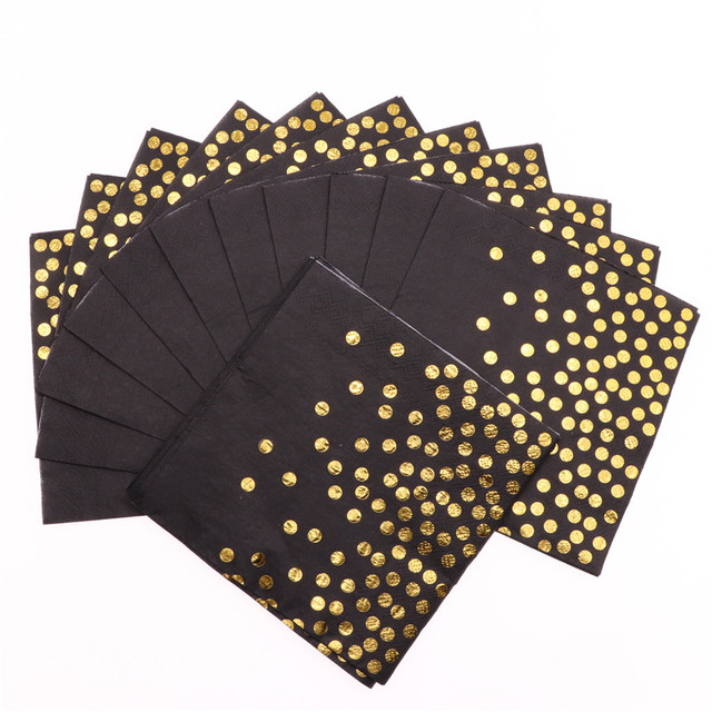 20pcs party decoration Gold Disposable Napkins for baby birthday party Wedding