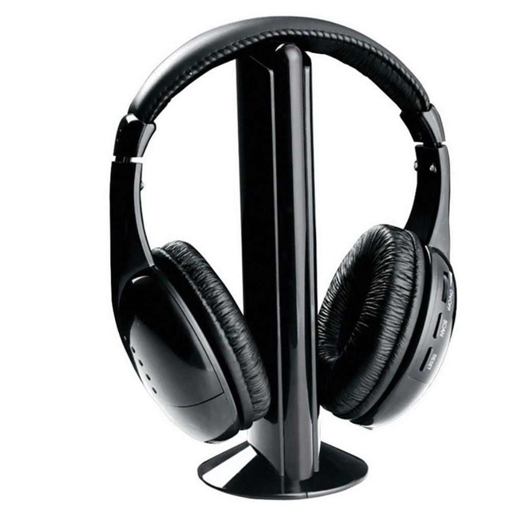 5 in 1 Hi-Fi Wireless Headphones Earphone Headset for PC Laptop TV FM Radio MP3 F528