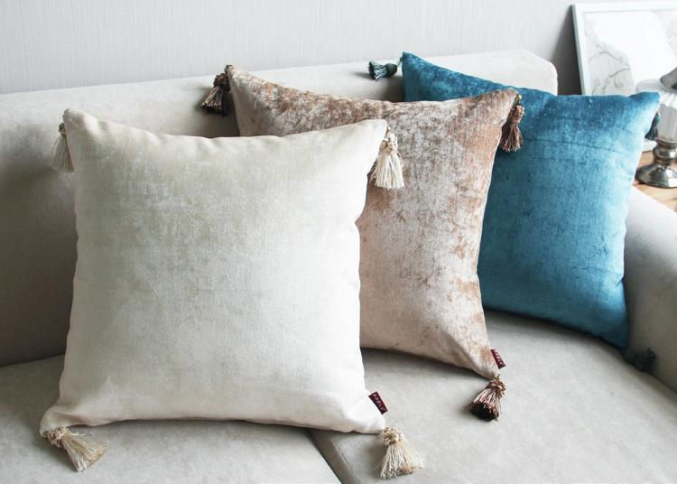 New European Style Luxury Solid Color Home/Office/Sofa/Bed Decorative Cushion/Throw Pillow(Not Contain Filling)45X45cm/60x60cm
