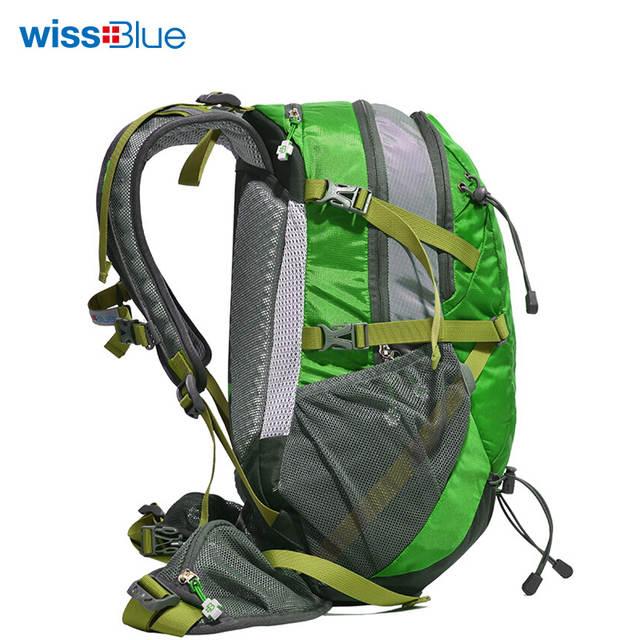 f733a94a03 WissBlue Hiking Backpack Travel Daypack Outdoor Sports Waterproof Backpack  Camping Pack Trekk Rucksack Men Women