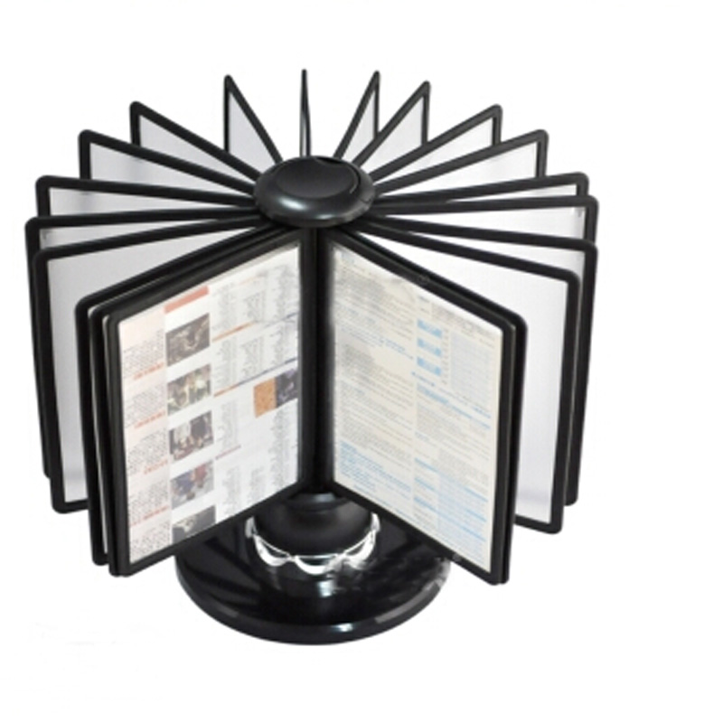 A5 Pageflip Page Office Display Rack Black Display Stand