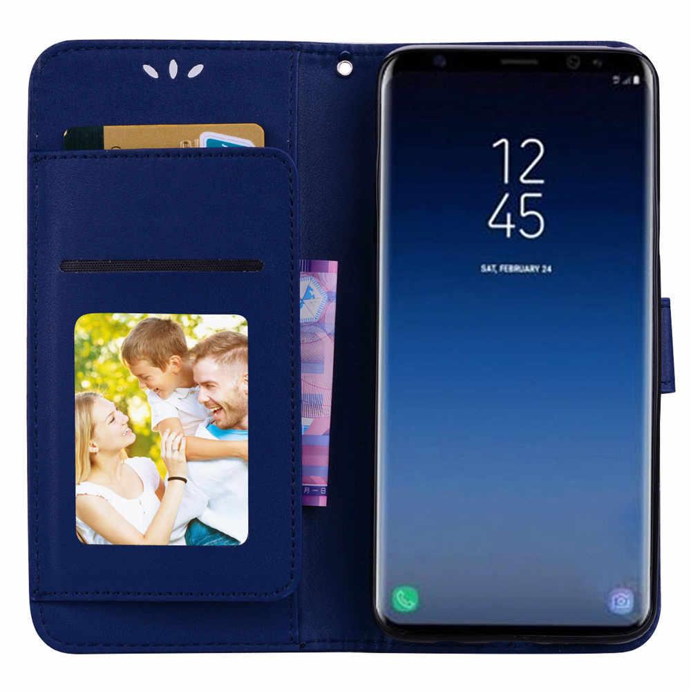 ثنائي استخدام بطاقة محفظة جلد الوجه حالة غطاء لسامسونج غالاكسي S9 plus/سامسونج غالاكسي S9 دروبشيبينغ Mar28