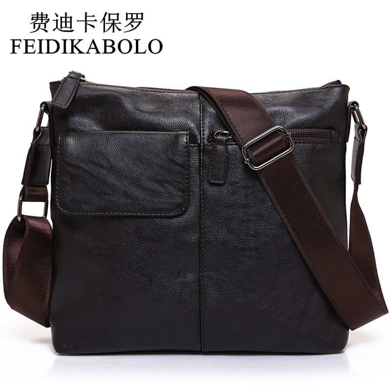 FEIDIKABOLO Men's Fashion PU Leather Crossbady Bag Male Designer Handbags Men Messenger Business High Quality Shoulder Bags Men