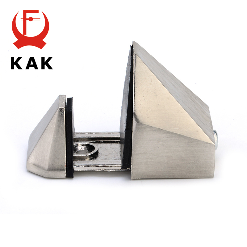 Image 3 - KAK Zinc Alloy Adjustable Glass Shelf Holder Glass Clamps Shelf Support Bracket Chrome Alloy Shelf Holder Glass Shelf BracketGlass Clamps   -
