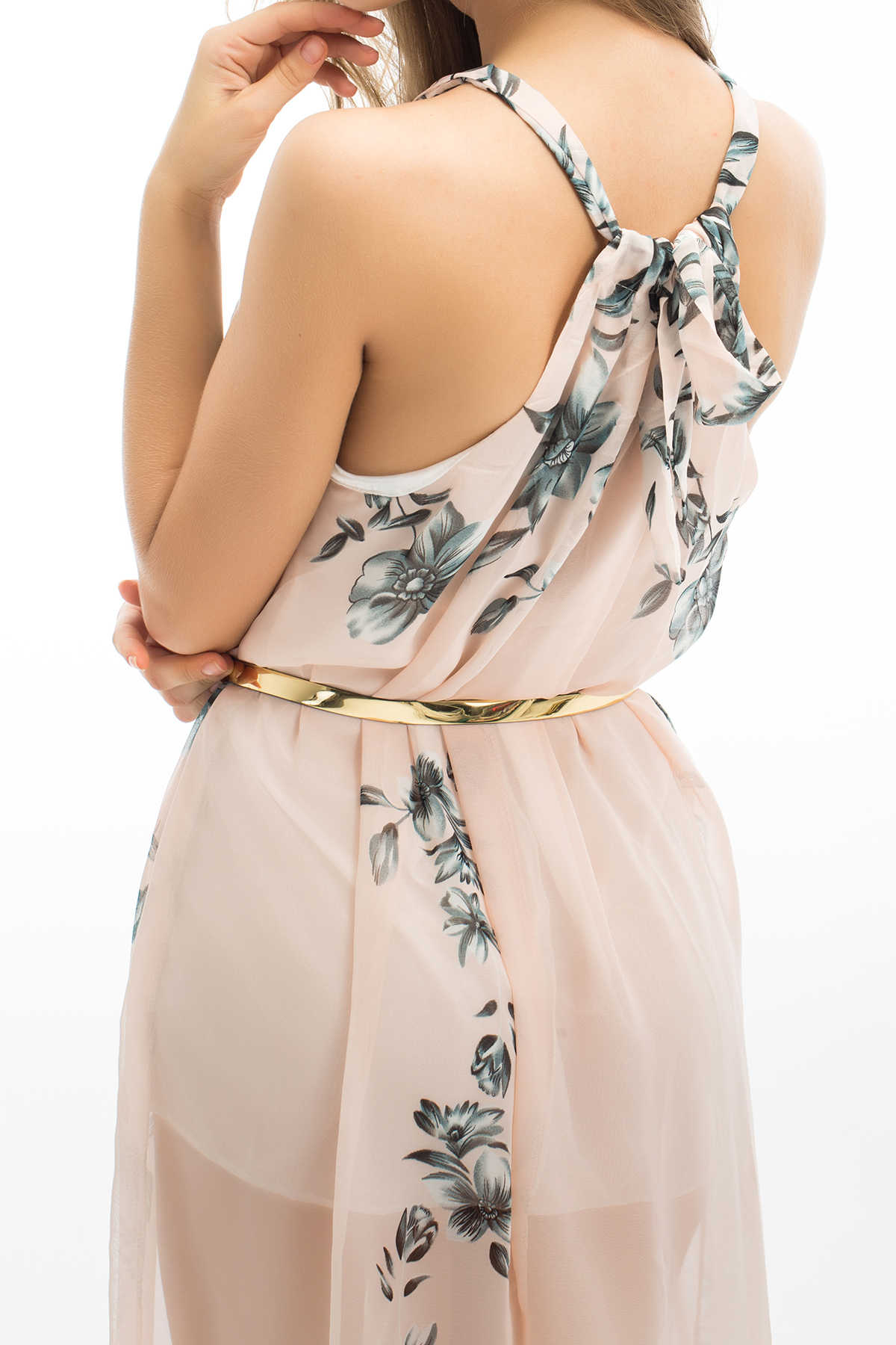 8312115d96343 ... 2018 Brand New Women Long Formal Prom Floral Boho Chiffon Dress Beach  Party Chiffon Summer Sleeveless