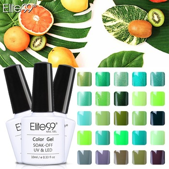 Elite99 10 ml Farbe Nagellack Grün Farbe Gel Nagellack Vernis Semi Permanent Top Mantel Basis Mantel Gel Lak gel Lacke UV Gel