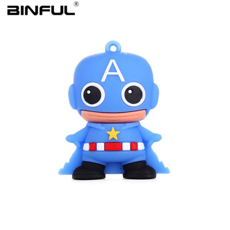 Image 2 - Captain America Usb Flash Drive 2.0 32gb High Speed Pen Drive 4GB 8GB 16GB 32GB 64GB Pendrive 128GB Usb Stick Best Gift U Disk-in USB Flash Drives from Computer & Office