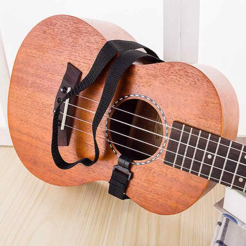 Regulowany pasek Ukulele gitara mandolina Instrument hak czarny akcesoria do gitary czarny Hang szyi instrumenty muzyczne pasek na szyję