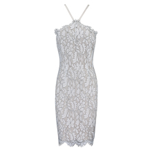 INDRESSME Women Lace Halter Bandage Dress 2018 New Mini Spaghetti Strap Floral Sexy Bodycon Club Party Dresses For Lady Fashion
