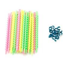 26 шт. длинные пластиковые стильные парикмахерские салонные инструменты парикмахерские спиральные волосы