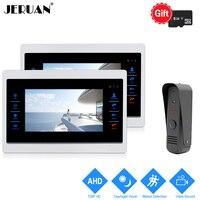 JERUAN 1 0MP 720P Motion Detection 7 Color Video Door Phone Intercom System 2 Record Monitor