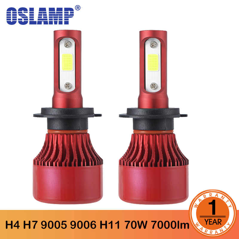 Oslamp H1 H4 H7 H11 H1 H3 H13 9005 9006 LED Headlight Bulb Car Lights Hi-Lo Beam  70W 7000LM LED Bulbs COB 6500K 4300K 12V 24V