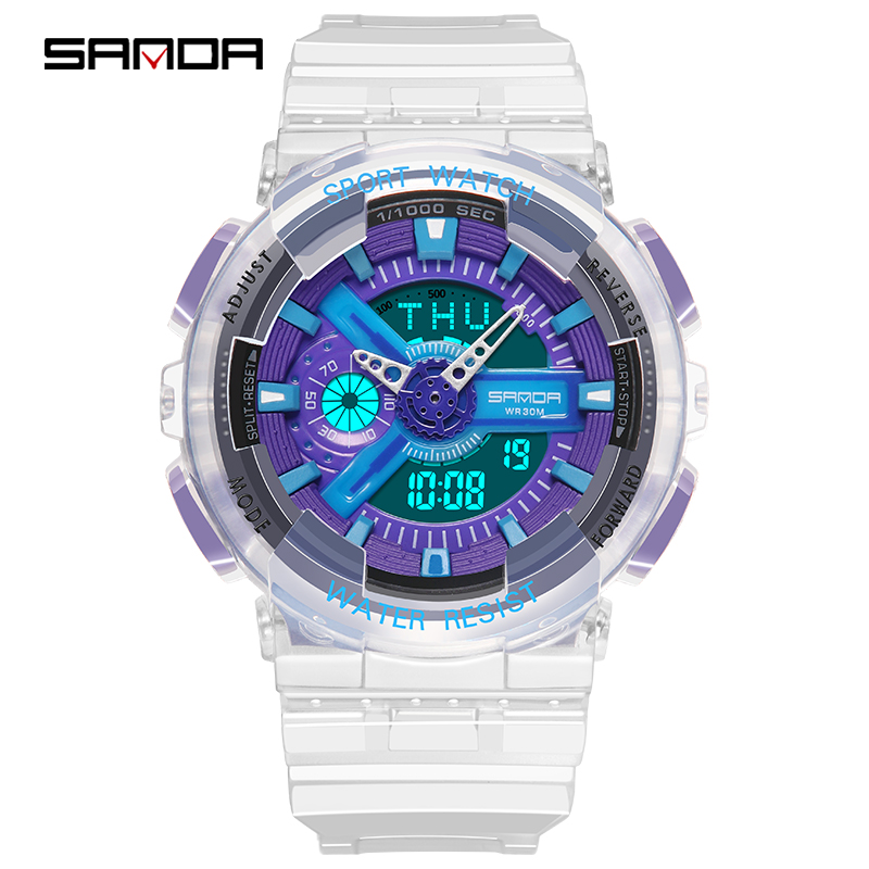 2019 SANDA Electronic Sport Watch Women LED Digital Watches Brand Luxury Ladies Wrist Watch For Women Clock Female Wristwatches