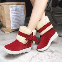 851d28c7b YOUYEDIAN Для женщин сапоги 2018 зимние сапоги из флока Для женщин слипоны  плюшевые классический бант галстук зимняя обувь повсе.