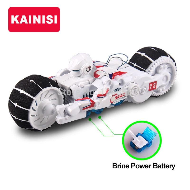 Diy bloques de construcción electrónica auto motocicleta montada poder salmuera