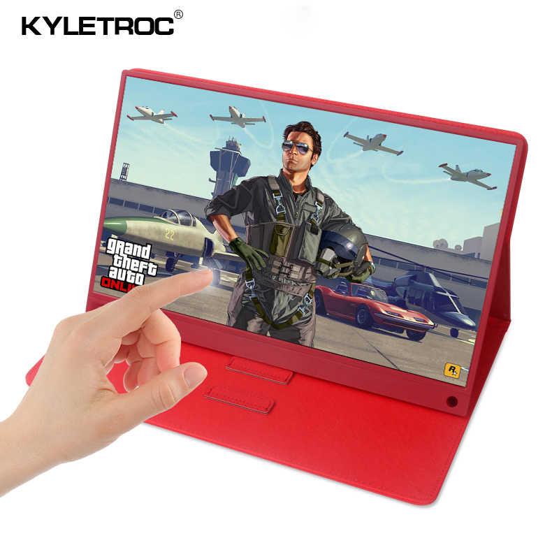 タッチスクリーンモニターポータブル超薄型 15.6 1080 インチ 720p ips HD Usb タイプ C 、収入ノートパソコンの電話 XBOX スイッチと PS4