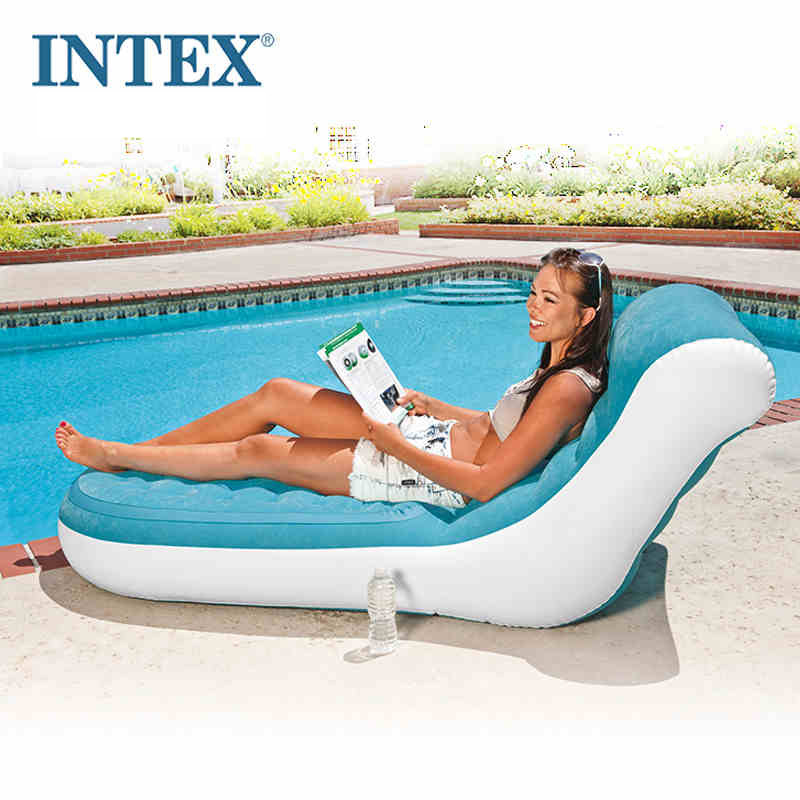 Groovy Us 53 0 Intex 68880 84 170 81Cm Flocking Single Back Inflatable Sofa Lazy Lounge Chair With Electric Pump In Camping Mat From Sports Entertainment Onthecornerstone Fun Painted Chair Ideas Images Onthecornerstoneorg