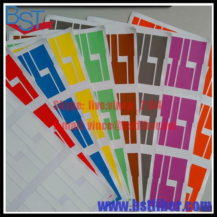 bilder für FTTH Glasfaser Tool Netzwerkkabel Etiketten Aufkleber 900 Stücke 30 STÜCKE A4 Größe Farbe Leere Label Wasserdichte Reißfest öldicht