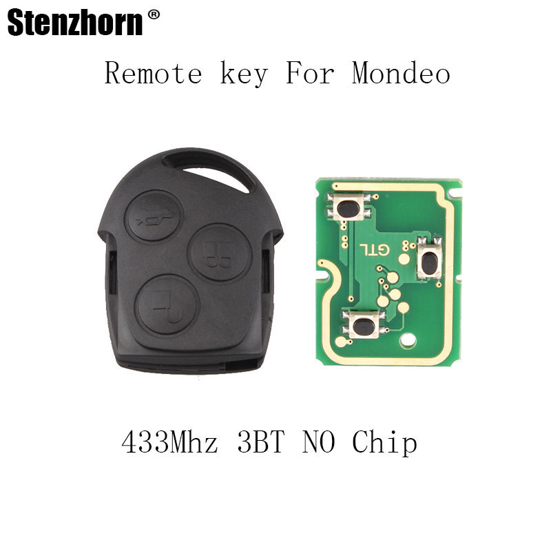 Stenzhorn 3Buttons 433mhz Remote Key For Ford Fusion Focus Mondeo Fiesta Galaxy 1998-2007 key NO Blade NO chip