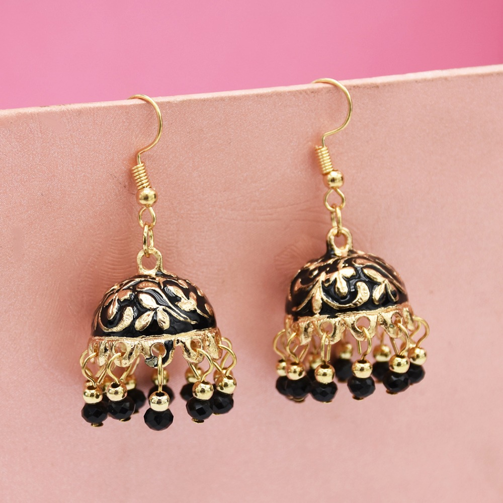 Egyptian Turkish Antique Silver Gold Sun Carved Large Earing Tassel Dangle Drop Earrings For Women Pakistan India Jhumka Jewelry Exquisite Traditional Embroidery Art Jewelry & Accessories