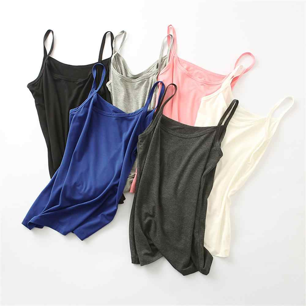 Fashion Women V-neck Vest Camisole Casual Tops Sling Tank Tops Modal Camisole Female Slim Camis Tops Women's camisole