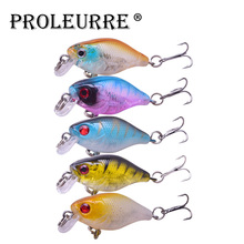 Proleurre 4.5cm 4.2g Minnow Fishing Lure Mini Crank Hard Bait artificial Wobblers Bass Japan Fly Fishing Accessories