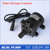 12V Brushless Water Pump 40 1250, 1pcs, 500LPH 5M, Magnetic Driven Submersible for CPU Cooling Small Fountain, Long Life