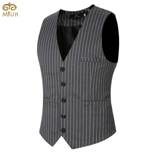 Large Size Striped Vest XXXL XXL Gilet V Necked Slim Fit Chaleco Hombre 2Color Black Navy Waistcoat Men Men's Fashion Vests 2017