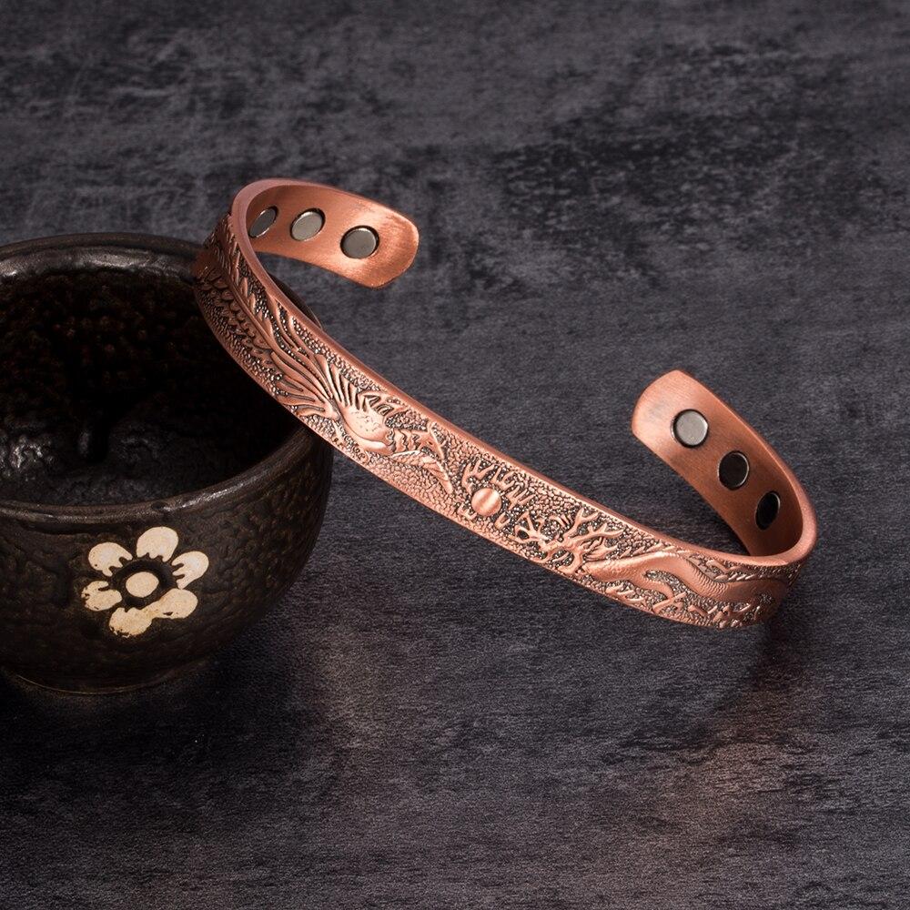 DRAGON Copper Cuff Bracelet for New Boyfriend  Gift for Him  Sci-Fi Fan Jewelry  Blacksmith Made Bracelet  Copper  Ancient Jewelry