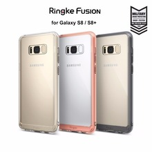 Ringke Fusion Case for Galaxy S8 / S8 Plus Clear Back Panel Mil-Grade Drop Proof Cases for Samsung Galaxy S8 / Galaxy S8+