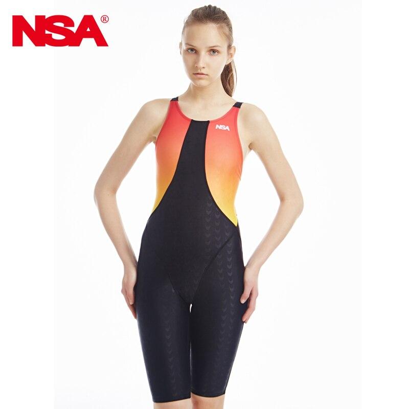 ФОТО NSA professional sharkskin training swimsuit bathing suit one piece women competitive sport swimwear full body swimming swimsuit