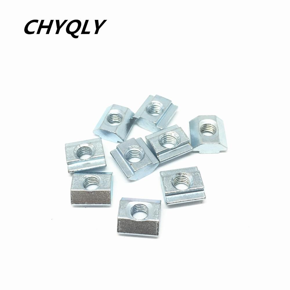 цена на 500pcs/lot 20-M5 T Sliding Block Square Nuts for 2020 Aluminum Profile Slot Zinc Coated Plate Aluminum connector Accessories