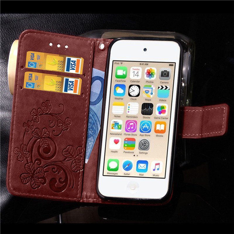 Funda Cover Book Case for Apple iPod Touch 5 6 Touch5 Touch6 Leather Cover Luxry Flip Capa