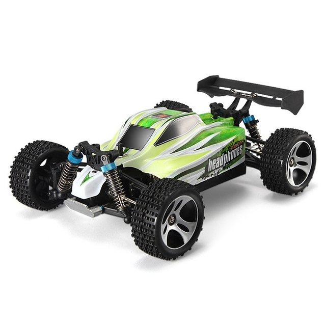 WLtoys A959 – B 1 / 18 70km/h 4WD Off-road Vehicle 2.4G 540 Brushed Motor Smart Tail Design Suspension Springs High Speed RC Car