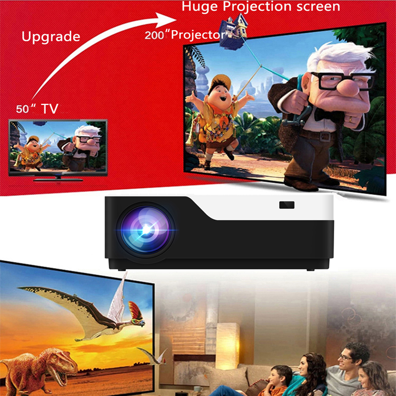 Image 2 - Smartldea M18 1080P Full HD 3D home theater Projector 5500 lumens LED Video game Proyector native 1920 x 1080 cinema Beamer-in LCD Projectors from Consumer Electronics