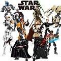 Star Wars Buidable Рис Модель Джанго Фетт Люк Скайуокер Kylo рен Оби-ван Построить Блок Сержант Jyn Эовсо Совместим с lego