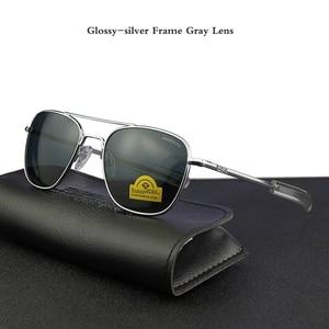 """Image 1 - טייס ארה""""ב. מחדש משקפי שמש גברים למעלה איכות מותג מעצב מזג זכוכית עדשה AO שמש משקפיים זכר YQ1006"""
