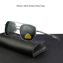 Pilot USA.RE Sonnenbrille Männer Top Qualität Marke Designer Gehärtetem Glas Objektiv AO Sonnenbrille Männlichen YQ1006