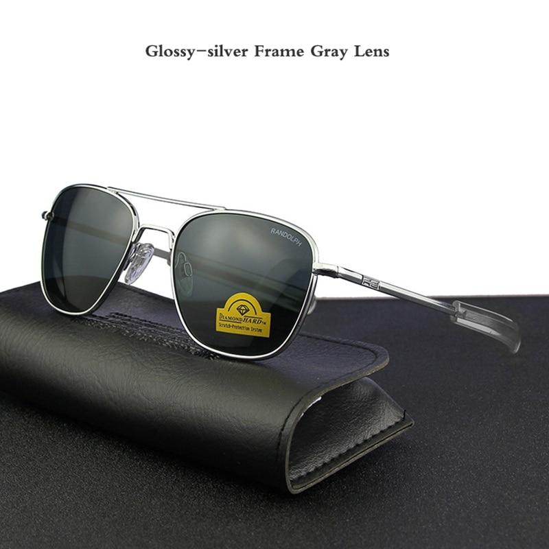 Pilot USA.RE Sunglasses Men Top Quality Brand Designer RANDOLPH AGX Tempered Glass Lens AO Sun Glasses Male YQ1006-in Men's Sunglasses from Apparel Accessories