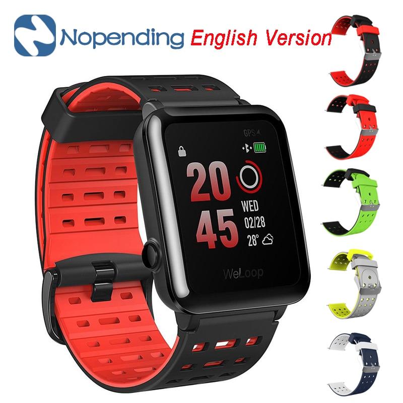 Global Version NEW Original WeLoop Hey 3S Smartwatch Sports Smart Watch GPS/AGPS Waterproof 50M Bluetooth Heart Rate+Free strap