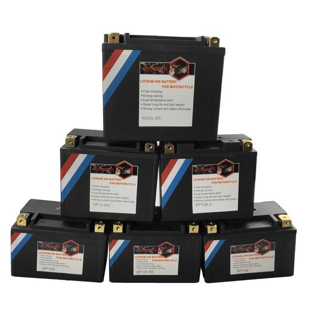 12V 12V 180, 260, 350, 450 480A LiFePO4 de hierro de litio de la batería de la motocicleta de 4 5 7 9 10 12 14Ah CCA BMS batería con protección de tensión