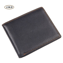 J.M.D New Style Simple Design Genuine Leather Mens Credit Card Holder Fashion Black Short Purse Causal Wallet 8029A-2