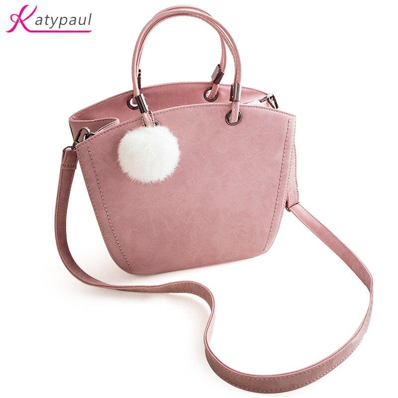 New Fashion 2017 Women Shoulder Bag Famous Brands Woman Handbag Lovely Suede Pink Gray Messenger Bag
