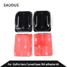 Новые Изогнутые Поверхности Основания Gopro 2x Изогнутые крепления 3 М VHB Клей Важная для Gopro Hero 5 Черный 4 3 + 2 Камеры